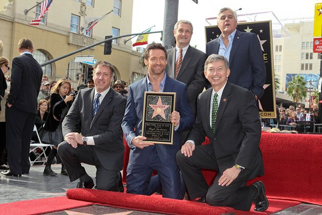 Hugh Jackman Jay Leno Walk of Fame