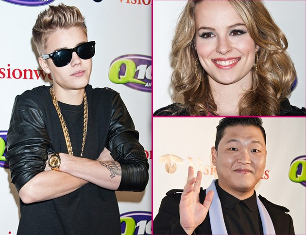 Justin Bieber Psy Bridget Mendler Jingle Ball 2012 Philadelphia Foto