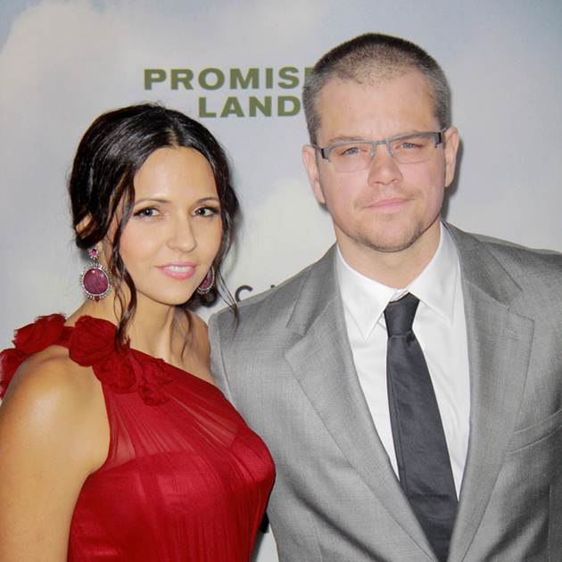 Matt Damon Luciana Barroso Promised Land Los Angeles Premiere