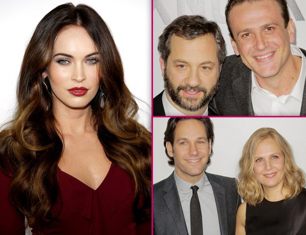 Megan Fox Jason Segel Paul Rudd This is 40 Los Angeles Premiere Foto