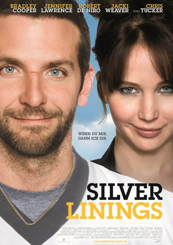 Silver Linings Playbook Poster Jennifer Lawrence & Bradley Cooper: Deutscher Silver Linings Playbook Trailer