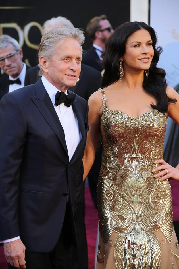 Michael-Douglas-Catherine-Zeta-Jones-Oscars-2013