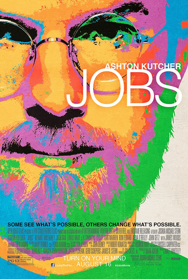 Ashton Kutcher Jobs Poster Foto