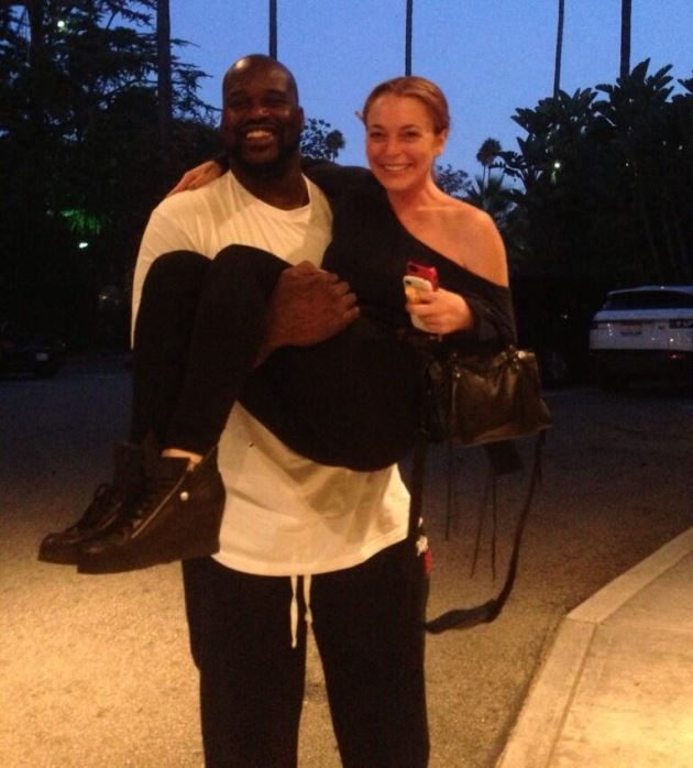 Lindsay Lohan Shaquille ONeal Foto
