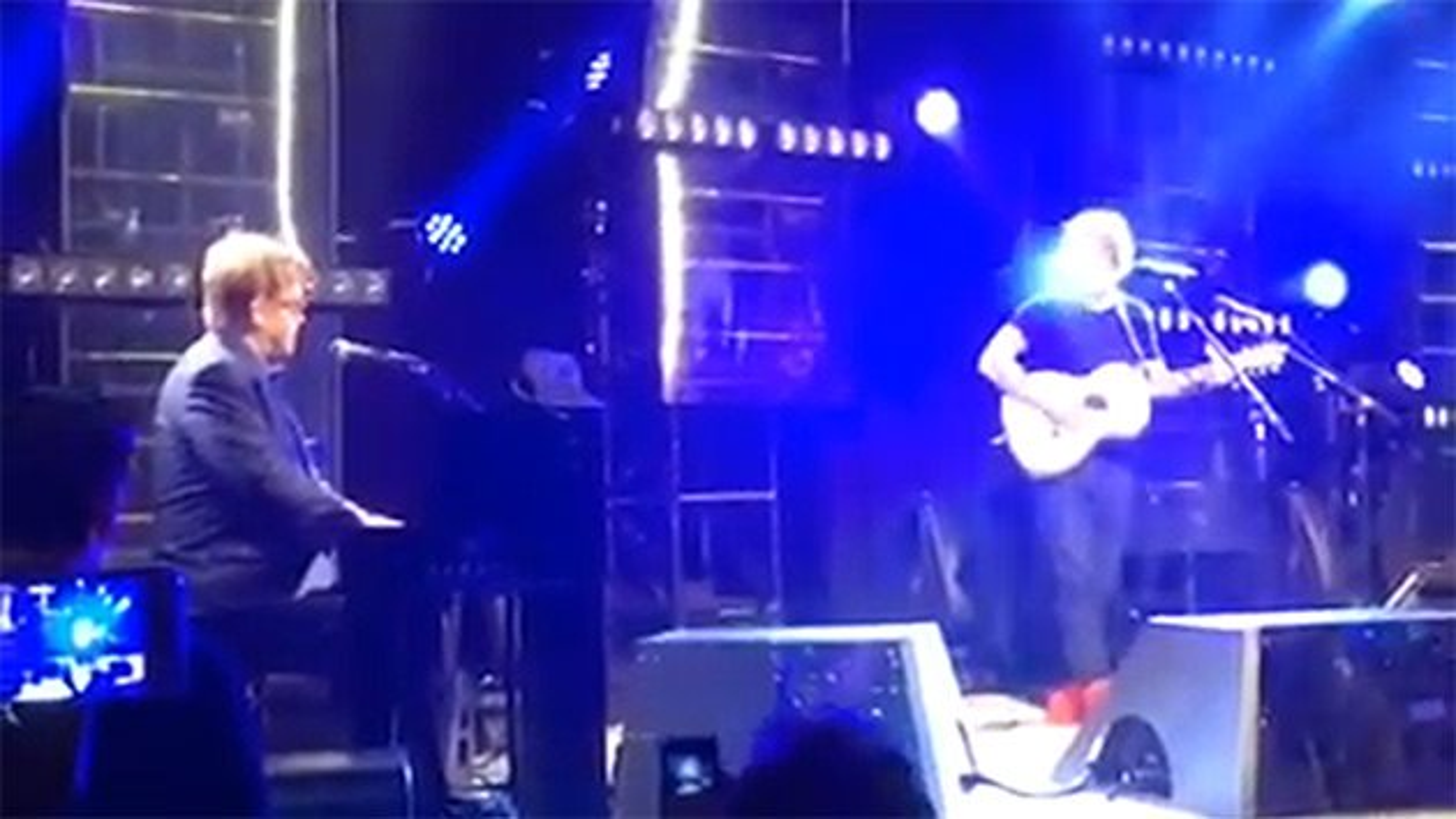 Elton-John-Ed-Sheeran-Oscar-Party-Auftritt