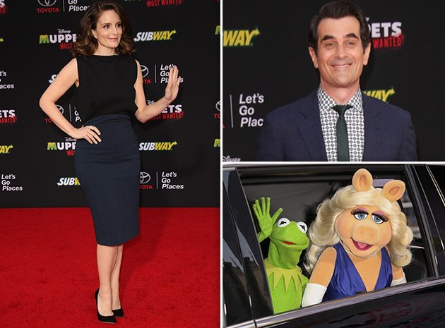 Muppets-Most-Wanted-Premiere-Tina-Fey-Ty-Burrell