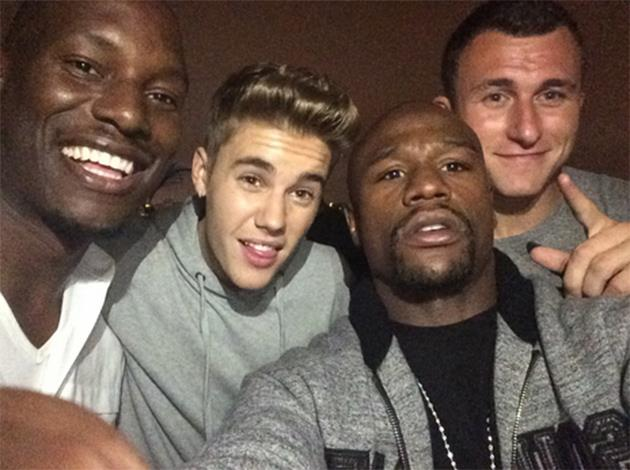 Justin-Bieber-Tyrese-Floyd-Mayweather-Party