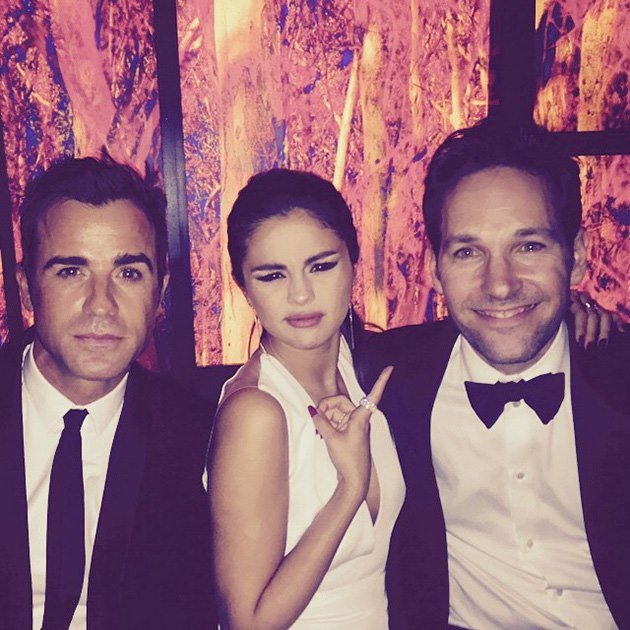 Golden-Globes-2015-Selena-Gomez-Justin-Theroux-Paul-Rudd