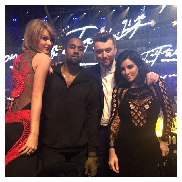 Taylor-Swift-Kanye-West-Kim-Kardashian-Sam-Smith-Brit-Awards-2015