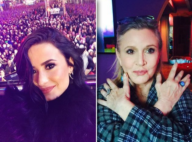Demi-Lovato-Carrie-Fisher