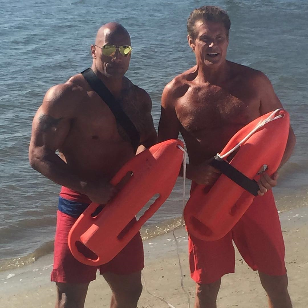 Dwayne-Johnson-David-Hasselhoff-Baywatch