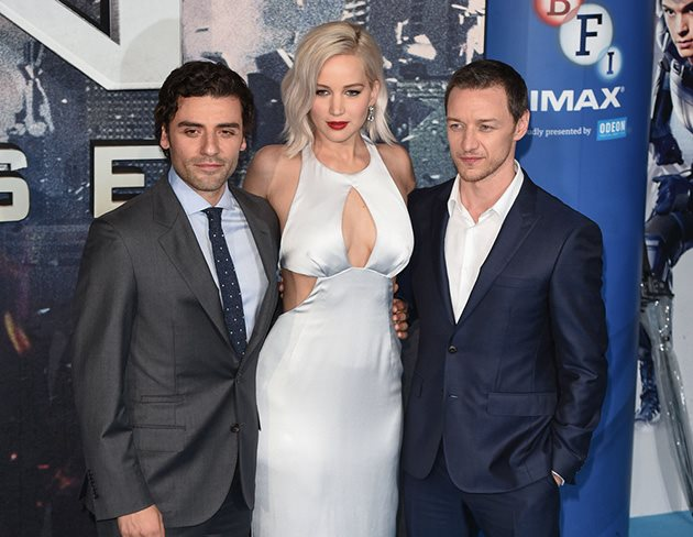 Oscar-Isaac-Jennifer-Lawrence-James-McAvoy-X-Men-Screening-London-2