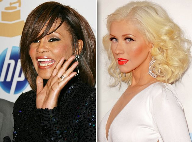 Whitney-Houston-Christina-Aguilera