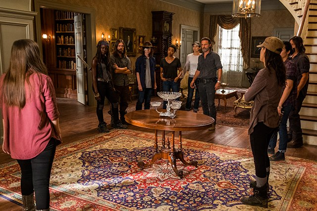 The-Walking-Dead-Staffel-7-Episode-9-Rick-Hillton-Maggie-Jesus-Carl Bild