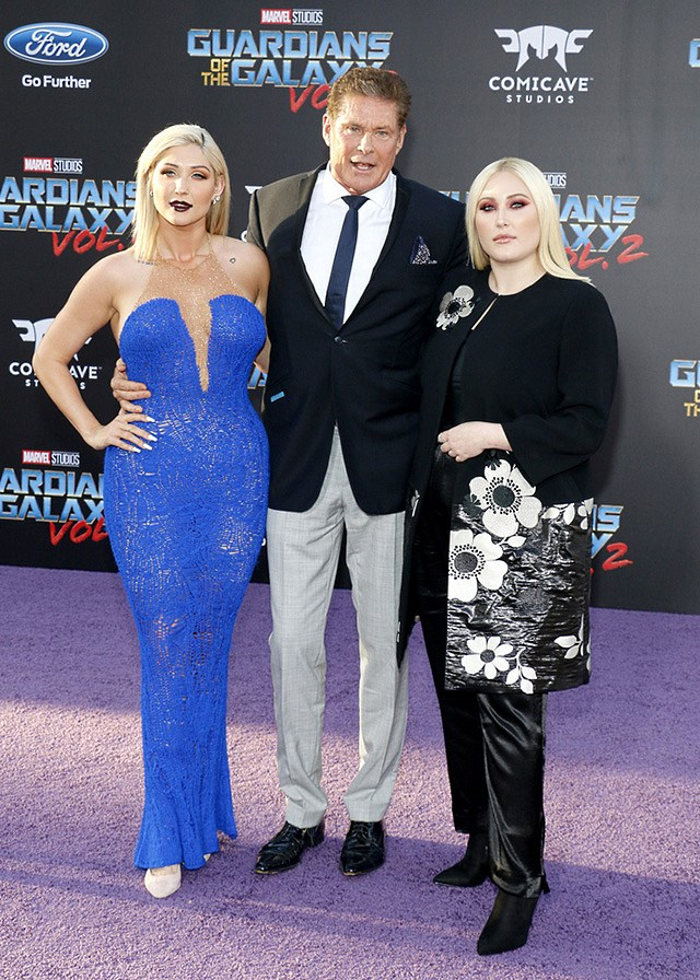 David-Hasselhoff-Toechter-Guardians-of-the-Galaxy-2-Premiere