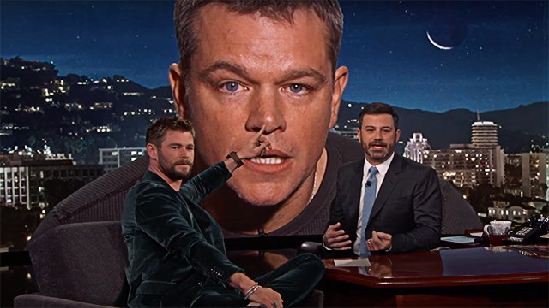Matt-Damon-Chris-Hemsworth-Jimmy-Kimmel